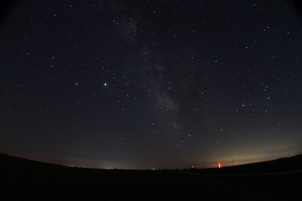 Saturn, Jupiter, Sagittarius, Scorpius, and the Milky Way