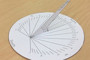 A paper sundial